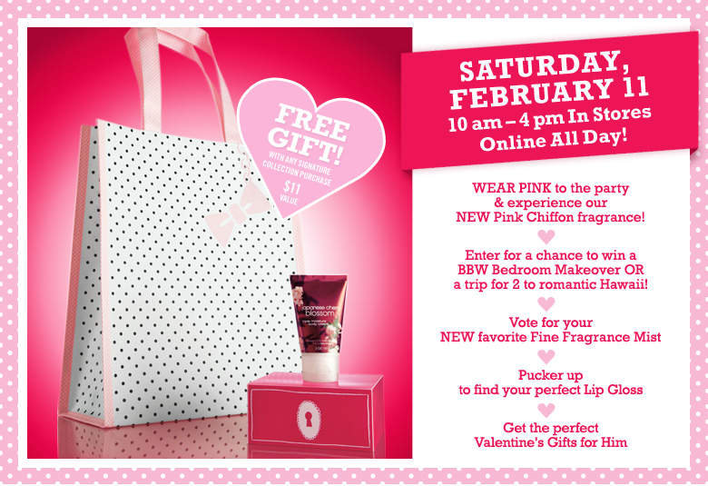 Post image for February 11th- Bath and Body Works Free Gift Offer