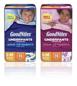 Post image for $2/1 GOODNITES Underwear Printable Coupon