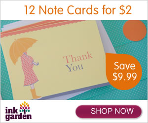 Post image for 12 Note Cards for $2 (Plus Shipping)