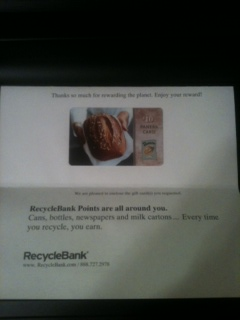 Post image for Got My Free Panera Gift Card From Recyclebank