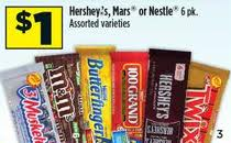 Post image for Free Hershey's 6 Pack Candy Bars