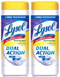 Post image for Lysol Dual Action Wipes Rebate