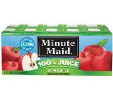 minute maid apple juice boxes