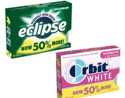 Post image for Rare Gum Coupon: $1.00 off On any ONE (1) 3-pack Multipack of Eclipse or Orbit White Gum