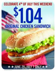 Post image for Burger King: $1.04 Chicken Sandwiches
