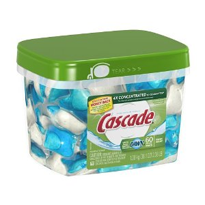 Post image for Amazon: Cascade ActionPacs, Dishwasher Detergent, 60-count Container $9.42