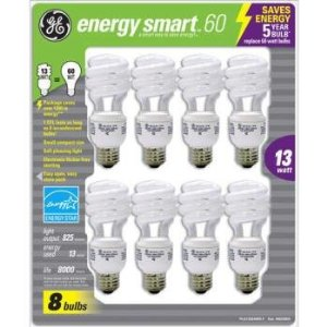 Post image for GE 13-Watt Energy SmartTM – 8 Pack – 60 Watt Replacement $8.45