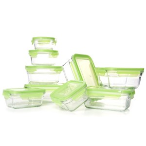Post image for Glasslock Snapware Tempered Glass Food Storage Containers with Lids 18 Piece Set $19.99