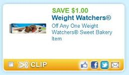 Post image for Weight Watchers Bakery Item Printable Coupon