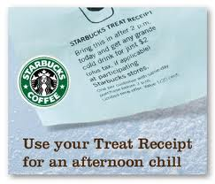 Post image for It's Begun Again: Starbucks Sweet Treat Receipts