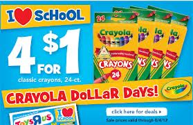 Post image for Toys R Us- $.25 Crayola Crayons