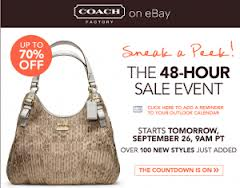 Post image for HOT: 48 Hour Coach Sale Up To 70% Off