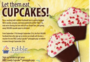 Post image for Free Edible Arrangement Cupcake Pineapple Pop