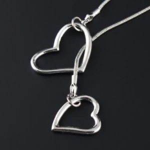Post image for Amazon: Double Love Heart Silver Color Pendant Chain Necklace $2.09 Shipped