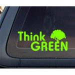 Think Green Car Decal / Sticker