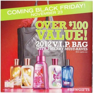 Post image for Black Friday 2012: Bath and Body Works