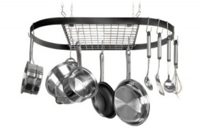 Post image for Wrought-Iron Oval Pot Rack $31.93