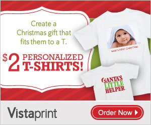 Post image for Vistaprint- Personalized T-Shirts for $6.50 Shipped