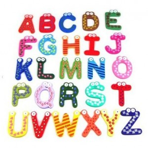 Post image for Colorful Magnetic Letters A-Z Wooden Fridge Magnets $2.98 Shipped