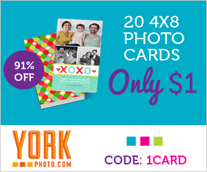 Post image for 20 4×6 Photo Cards only $1 + 40 Free Prints ( Shipping is only $3.50)