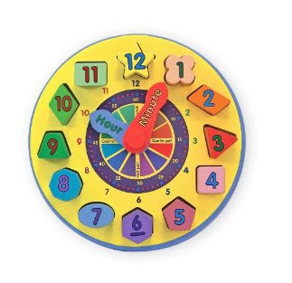 Great Price on Melissa & Doug Wooden Shape Sorting Clock!