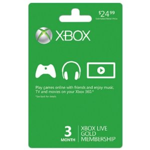 Post image for BestBuy.com- XBox Live 3 Month Membership $14.99 Shipped