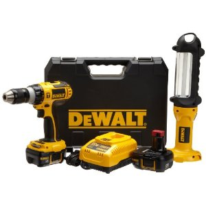 Post image for Gifts For Him: DEWALT18-Volt Lithium-Ion Hammer-Drill and Area Light Combo Kit 49% Off