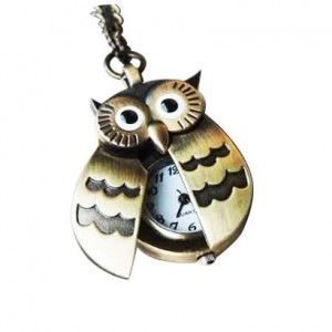 Post image for Flappy Wings Owl Locket Watch Necklace $2.92