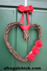 Post image for Make A Valentine Wreath #valentines