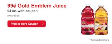Post image for CVS: Gold Emblem Juice $.99