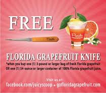 Post image for Free Florida Grapefruit Knife When You Buy Grapefruit or Juice