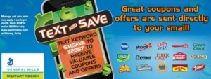 Post image for General Mills Military Region Coupons and Offers