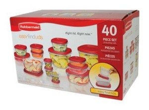 Post image for Amazon: Rubbermaid Easy Find Lid Food Storage Set, 40-Piece $19.86