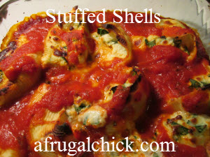 Post image for Cooking For One Recipes: Spinach Ricotta Stuffed Shells