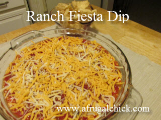 Post image for Cooking For One Recipes: Ranch Fiesta Dip (Superbowl Recipe) #SB47