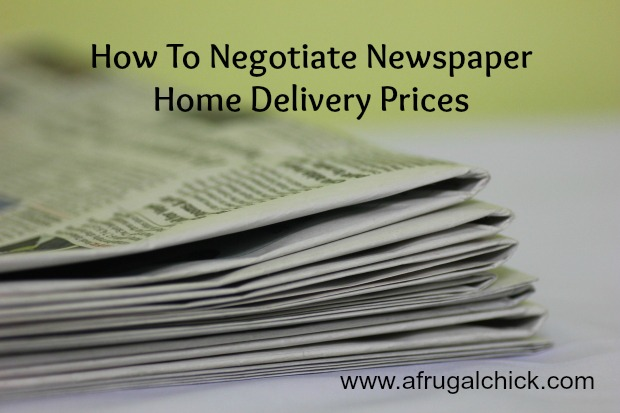 How To Negotiate Newspaper Home Delivery Prices