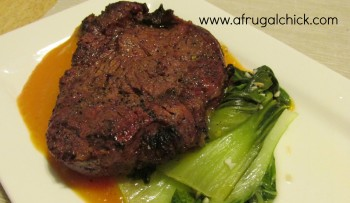 Post image for Cooking For One Recipes: Sirloin and Bok Choy (A Valentine's Meal)