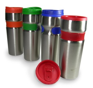 Post image for Amazon: Set of 4 14-Ounce Reusable Stainless Steel Travel Mugs with Grip $19.95