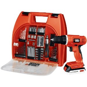 Post image for Amazon Daily Deal: Black & Decker 20-Volt MAX Lithium-Ion Drill Kit with 100 Accessories $62.99