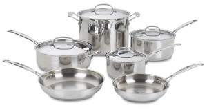 Post image for Amazon: Cuisinart Chef's Classic Stainless 10-Piece Cookware Set $106