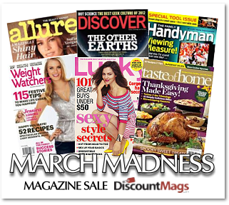 Post image for March Madness Magazine Sale-5 Magazines For Only $19.97