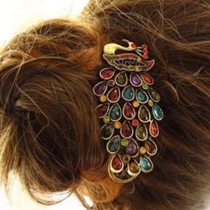 Post image for Lovely Vintage Peacock Hair Clip $1 Shipped