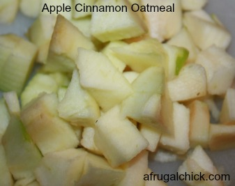 diced apples