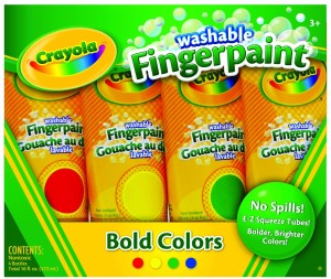 Post image for Amazon- 4 pack Crayola Washable Fingerpaints $4.88
