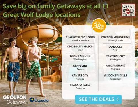Post image for Great Wolf Lodge- Save $160 (Valid All 11 Locations)