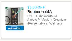 Post image for Rare Coupon: $3.00 off Rubbermaid All Access™ Medium Organizer