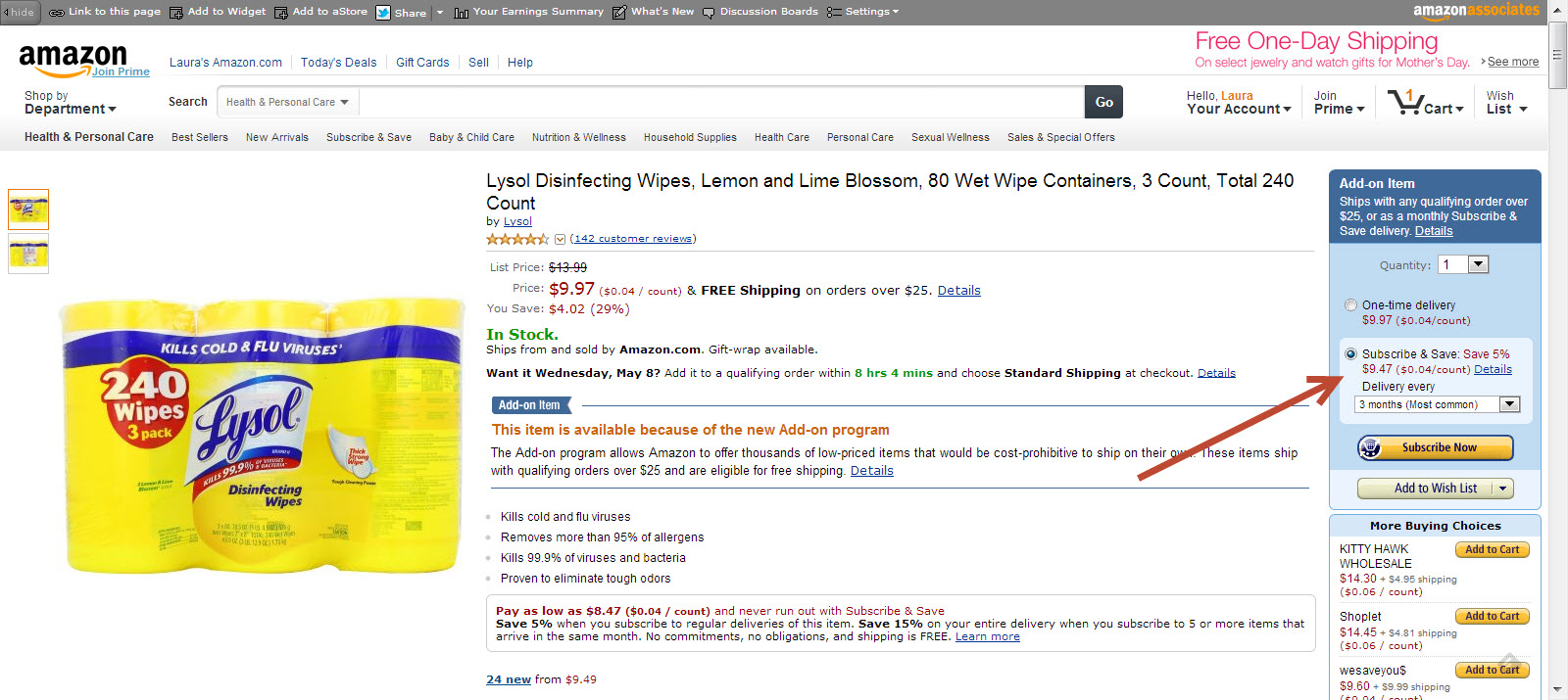 amazon lysol wipes