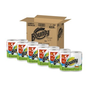 bounty paper towels box