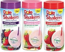 dole fruit shakers