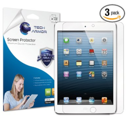 Post image for Amazon- Tech Armor Apple iPad Mini Premium HD Clear Screen Protector [3-Pack]  $7.95